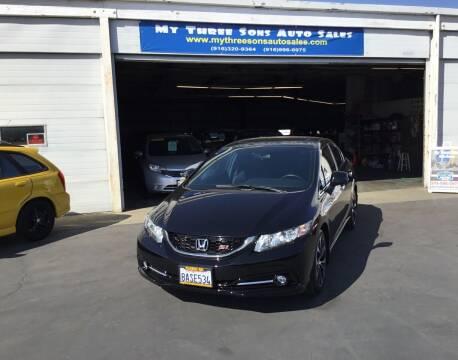 2013 Honda Civic for sale at My Three Sons Auto Sales in Sacramento CA