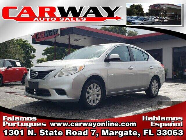 2012 Nissan Versa for sale at CARWAY Auto Sales in Margate FL