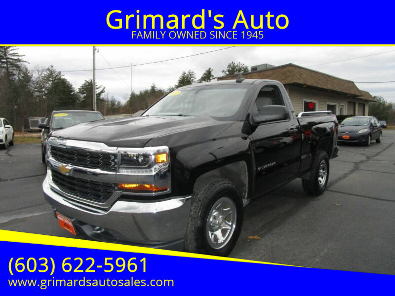 2017 Chevrolet Silverado 1500 for sale at Grimard's Auto in Hooksett, NH