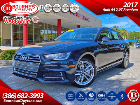 2017 Audi A4 for sale at Bourne's Auto Center in Daytona Beach FL