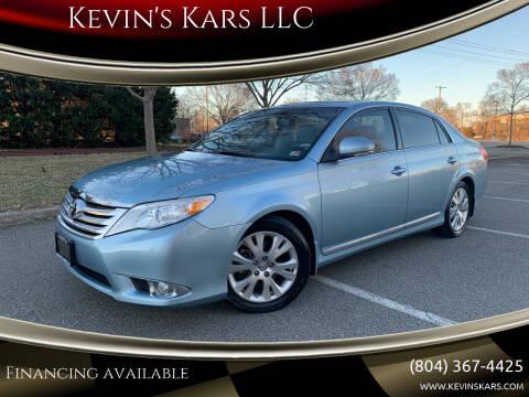 2011 Toyota Avalon for sale at Kevin's Kars LLC in Richmond VA