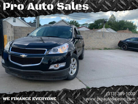 2009 Chevrolet Traverse for sale at Pro Auto Sales in Lincoln Park MI