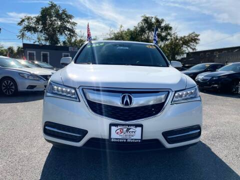 2014 Acura MDX for sale at Sincere Motors LLC in Baltimore MD