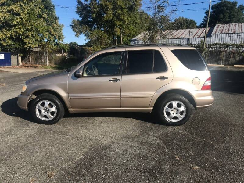 2002 Mercedes-Benz M-Class for sale at Mike's Auto Sales of Charlotte in Charlotte NC