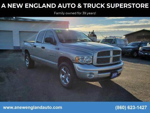 2004 Dodge Ram Pickup 1500 for sale at A NEW ENGLAND AUTO & TRUCK SUPERSTORE in East Windsor CT