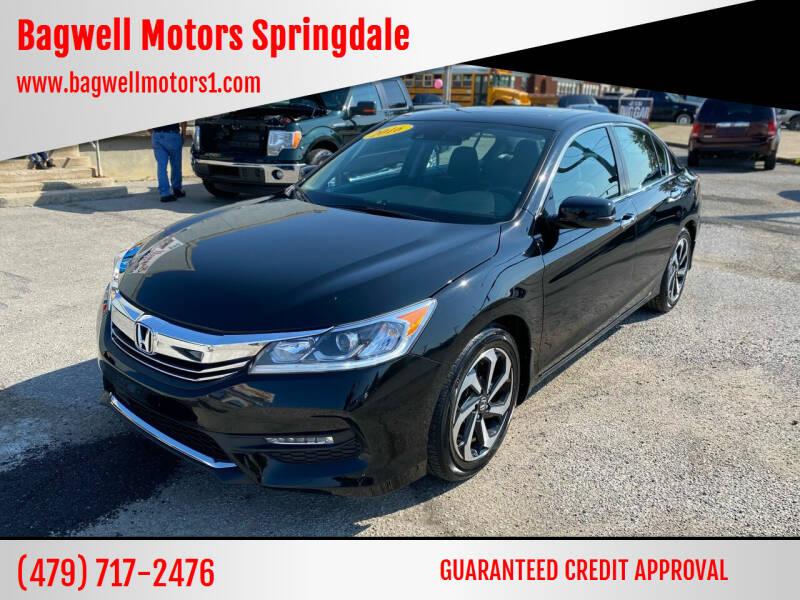 2016 Honda Accord for sale at Bagwell Motors Springdale in Springdale AR