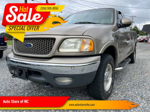 2001 Ford F-150 for sale at Auto Store of NC in Walkertown NC