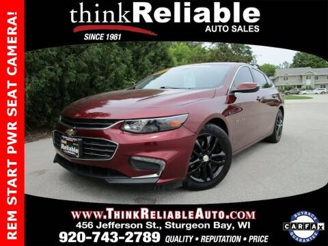 2016 Chevrolet Malibu for sale at RELIABLE AUTOMOBILE SALES, INC in Sturgeon Bay WI