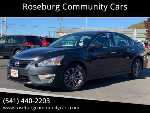 2015 Nissan Altima for sale at Roseburg Community Cars in Roseburg OR