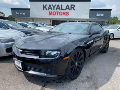 2015 Chevrolet Camaro for sale at KAYALAR MOTORS in Houston TX