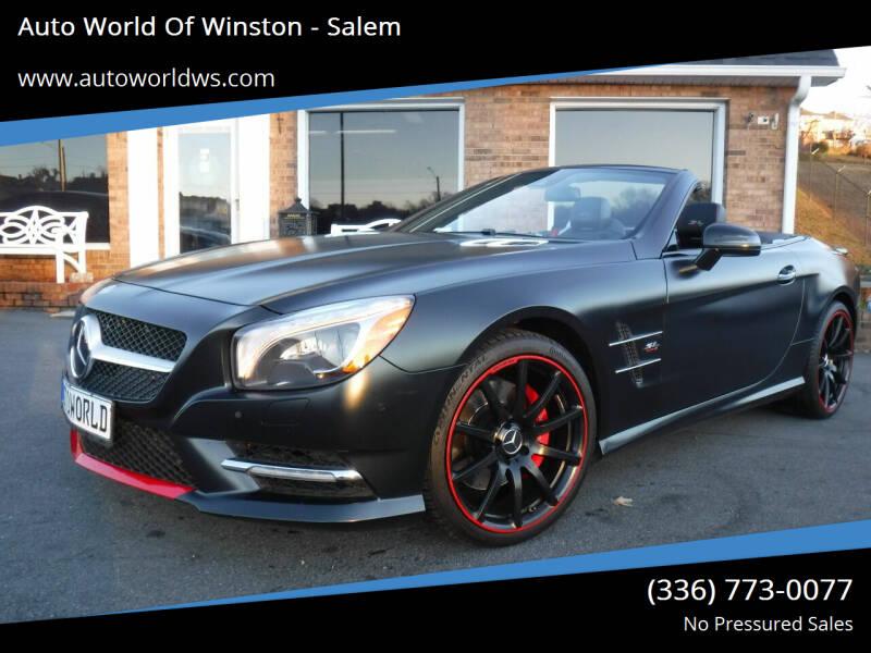2016 Mercedes-Benz SL-Class for sale at Auto World Of Winston - Salem in Winston Salem NC