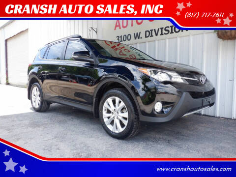 2014 Toyota RAV4 for sale at CRANSH AUTO SALES, INC in Arlington TX