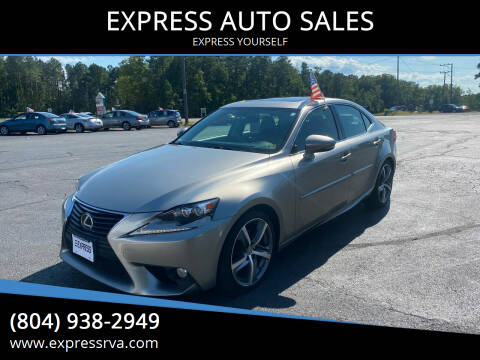 2014 Lexus IS 250 for sale at EXPRESS AUTO SALES in Midlothian VA