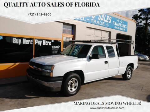 2004 Chevrolet Silverado 1500 for sale at QUALITY AUTO SALES OF FLORIDA in New Port Richey FL