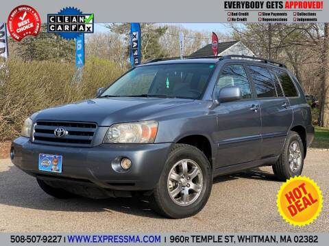 2004 Toyota Highlander for sale at Auto Sales Express in Whitman MA