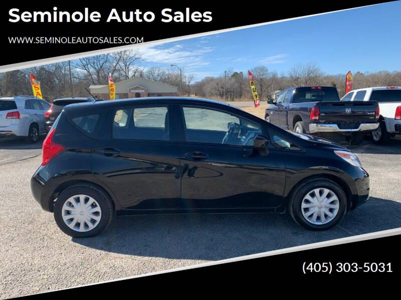 2016 Nissan Versa Note for sale at Seminole Auto Sales in Seminole OK