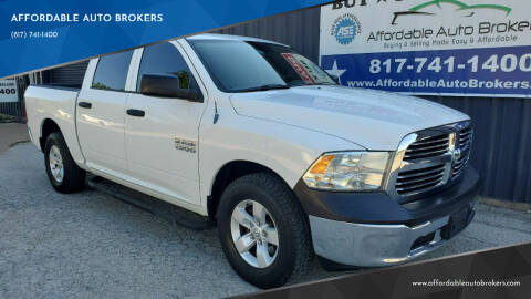 2013 RAM Ram Pickup 1500 for sale at AFFORDABLE AUTO BROKERS in Keller TX