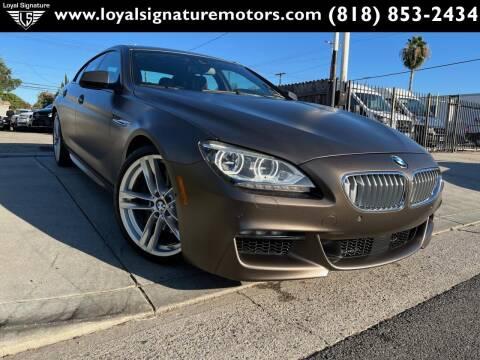 2014 BMW 6 Series for sale at Loyal Signature Motors Inc. in Van Nuys CA