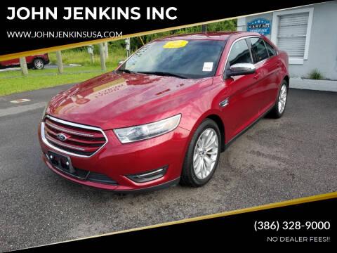 2015 Ford Taurus for sale at JOHN JENKINS INC in Palatka FL