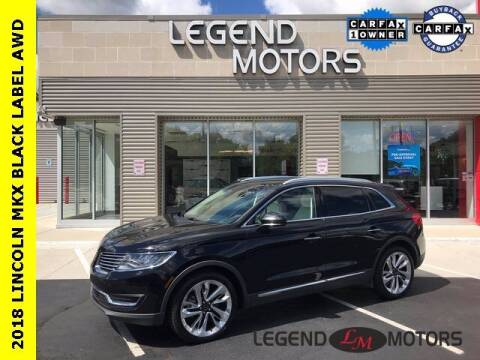 2018 Lincoln MKX for sale at Legend Motors of Waterford in Waterford MI
