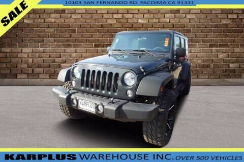 2017 Jeep Wrangler Unlimited for sale at Karplus Warehouse in Pacoima CA