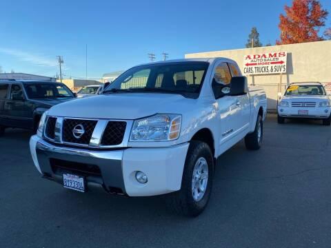 2006 Nissan Titan for sale at Adams Auto Sales in Sacramento CA