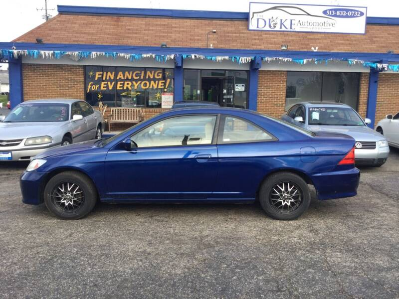 2005 Honda Civic for sale at Duke Automotive Group in Cincinnati OH