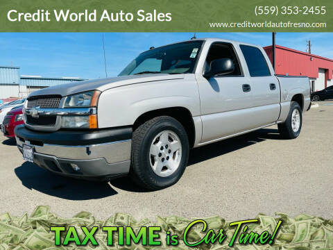 2005 Chevrolet Silverado 1500 for sale at Credit World Auto Sales in Fresno CA