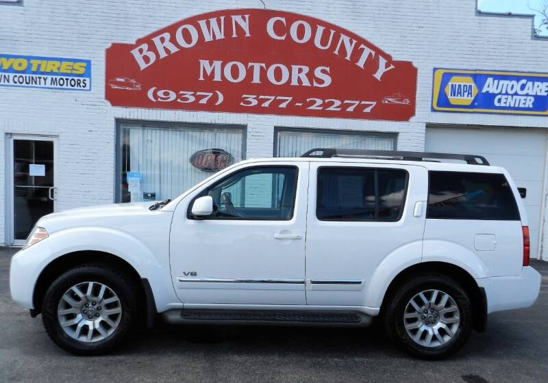 2008 Nissan Pathfinder for sale at Brown County Motors in Russellville OH