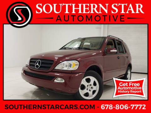 2002 Mercedes-Benz M-Class for sale at Southern Star Automotive, Inc. in Duluth GA
