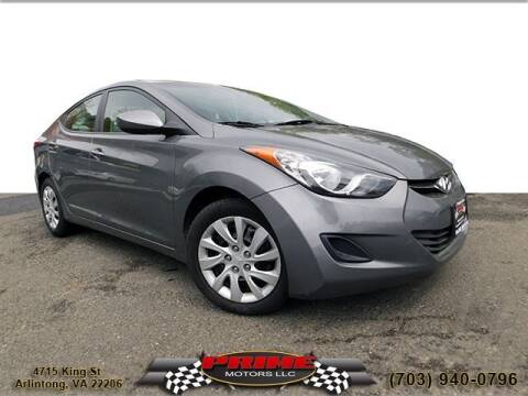 2013 Hyundai Elantra for sale at PRIME MOTORS LLC in Arlington VA
