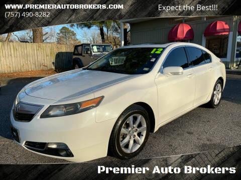 2012 Acura TL for sale at Premier Auto Brokers in Virginia Beach VA