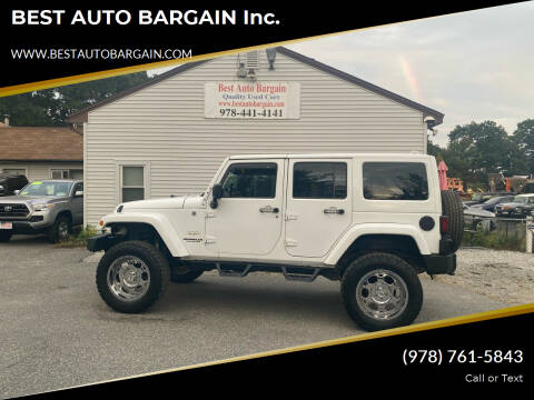2013 Jeep Wrangler Unlimited for sale at BEST AUTO BARGAIN inc. in Lowell MA