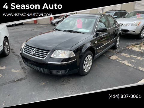 2002 Volkswagen Passat for sale at 4 Season Auto in Milwaukee WI