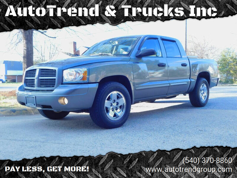 2006 Dodge Dakota for sale at AutoTrend & Trucks Inc in Fredericksburg VA