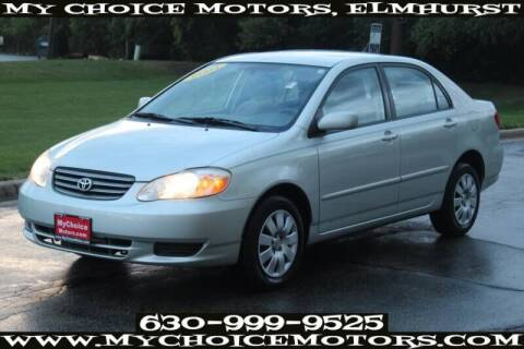 2004 Toyota Corolla for sale at My Choice Motors Elmhurst in Elmhurst IL