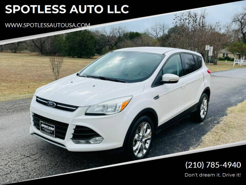 2013 Ford Escape for sale at SPOTLESS AUTO LLC in San Antonio TX