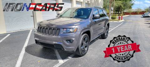 2015 Jeep Grand Cherokee for sale at IRON CARS in Hollywood FL