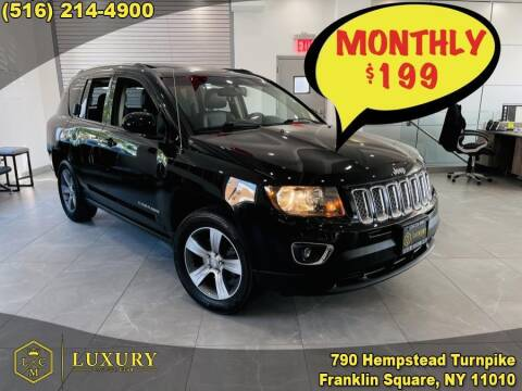 2016 Jeep Compass for sale at LUXURY MOTOR CLUB in Franklin Square NY