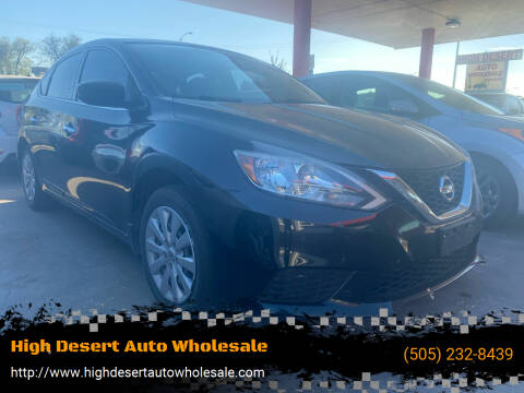 2016 Nissan Sentra for sale at High Desert Auto Wholesale in Albuquerque NM