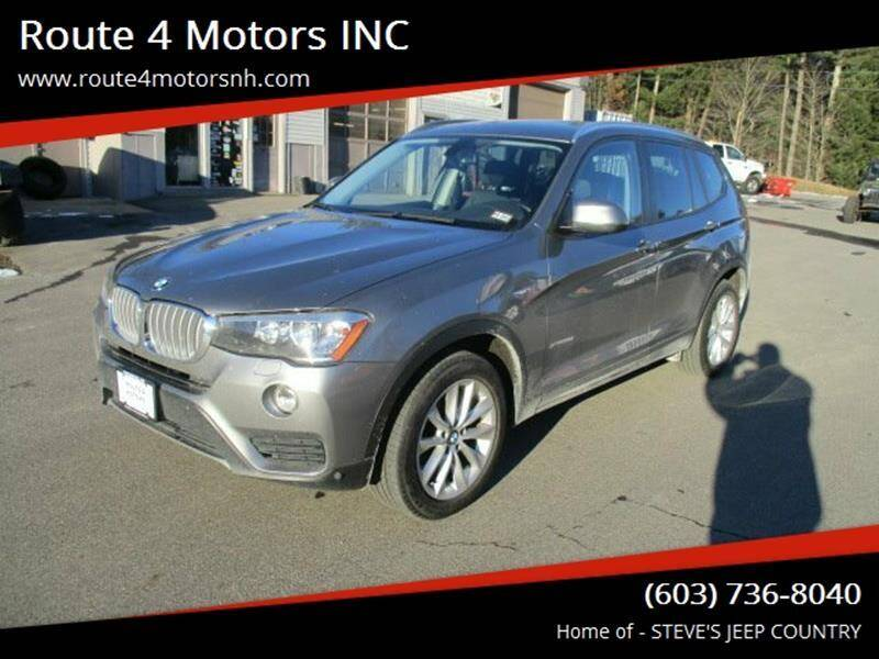 2015 BMW X3 for sale at Route 4 Motors INC in Epsom NH
