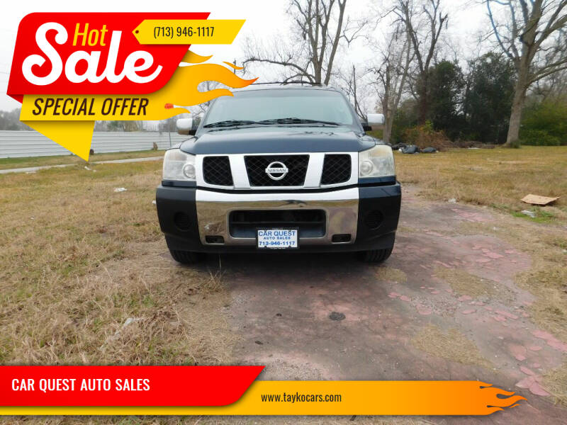 2006 Nissan Armada for sale at CAR QUEST AUTO SALES in Houston TX