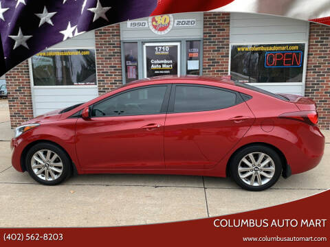 2016 Hyundai Elantra for sale at Columbus Auto Mart in Columbus NE