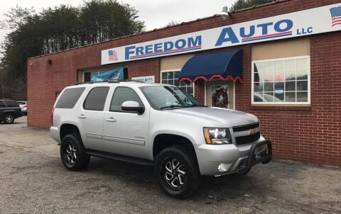 2013 Chevrolet Tahoe for sale at FREEDOM AUTO LLC in Wilkesboro NC