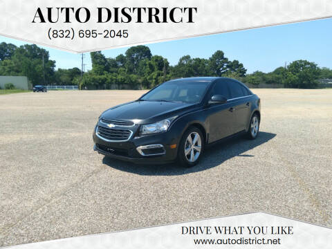 2015 Chevrolet Cruze for sale at Auto District in Baytown TX