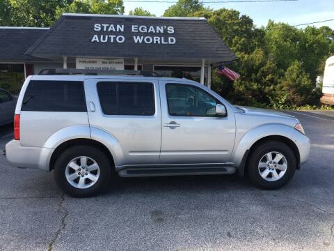 2008 Nissan Pathfinder for sale at STAN EGAN'S AUTO WORLD, INC. in Greer SC