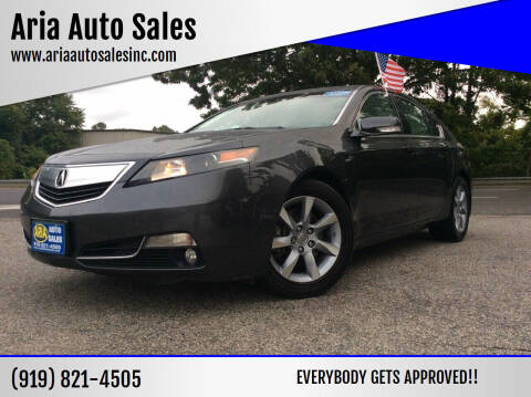 2012 Acura TL for sale at ARIA  AUTO  SALES in Raleigh NC