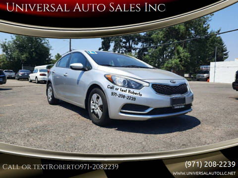 2014 Kia Forte for sale at Universal Auto Sales Inc in Salem OR