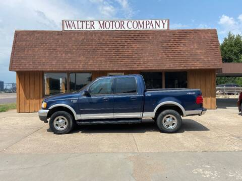 2002 Ford F-150 for sale at Walter Motor Company in Norton KS