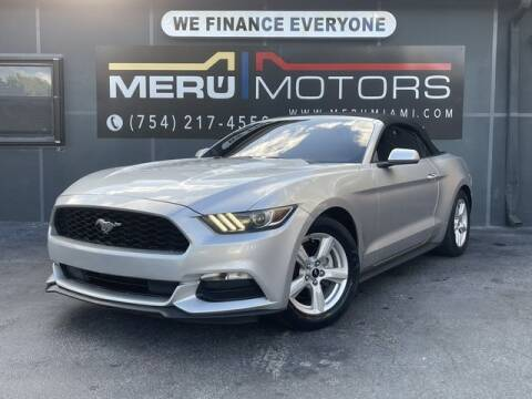 2016 Ford Mustang for sale at Meru Motors in Hollywood FL